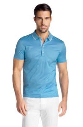 Regular Fit cotton polo shirt 'Bugnara 20', Light Blue