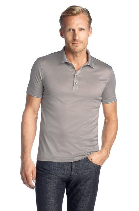 Short sleeve polo shirt 'Bellano 09', Open Grey