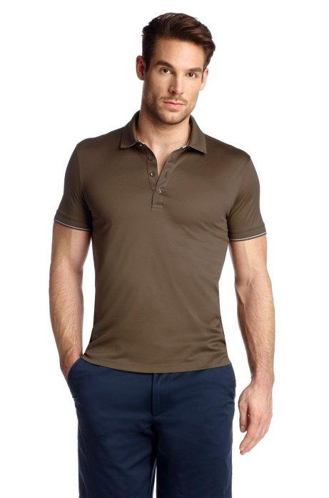 Short sleeve polo shirt 'Bellano 09', Brown