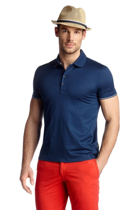 Short sleeve polo shirt 'Bellano 09', Blue