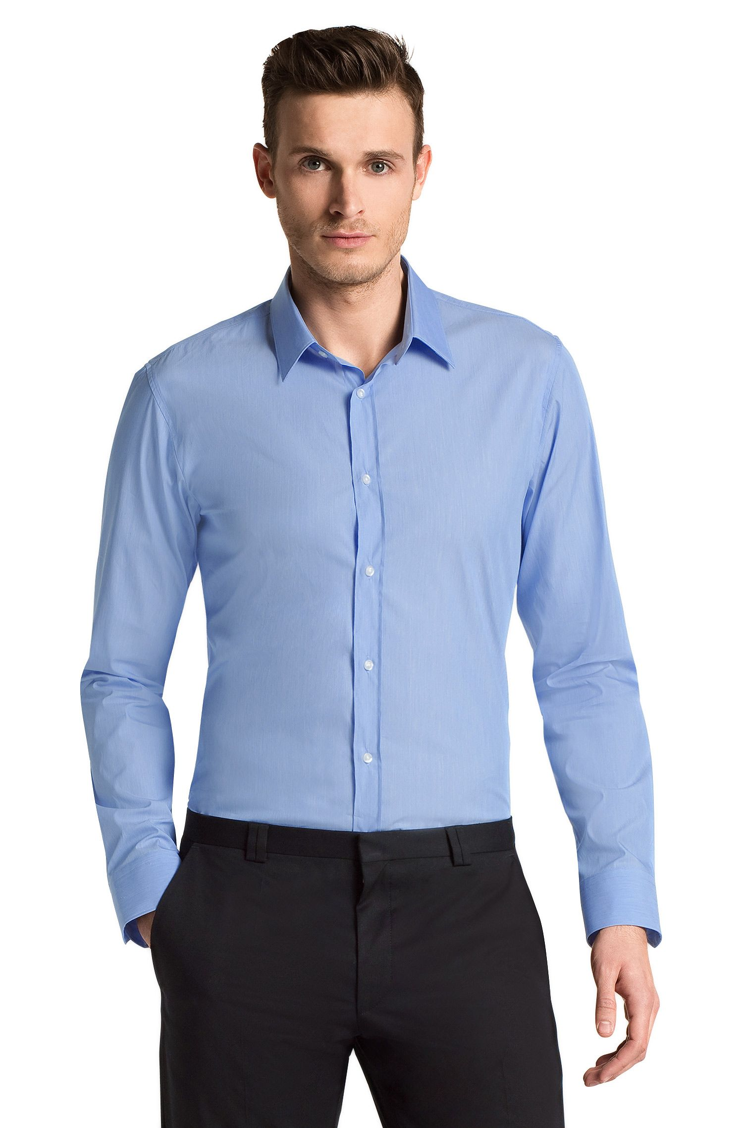 Slim fit businessoverhemd ´Elisha` met kentkraag