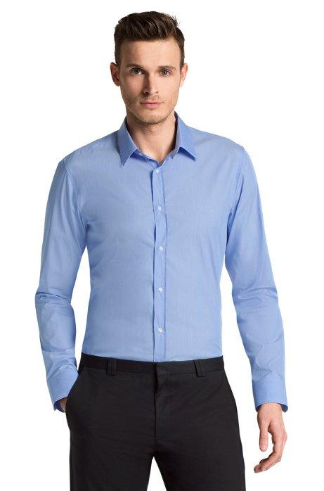 Slim Fit business shirt + Kent collar 'Elisha', Dark Blue