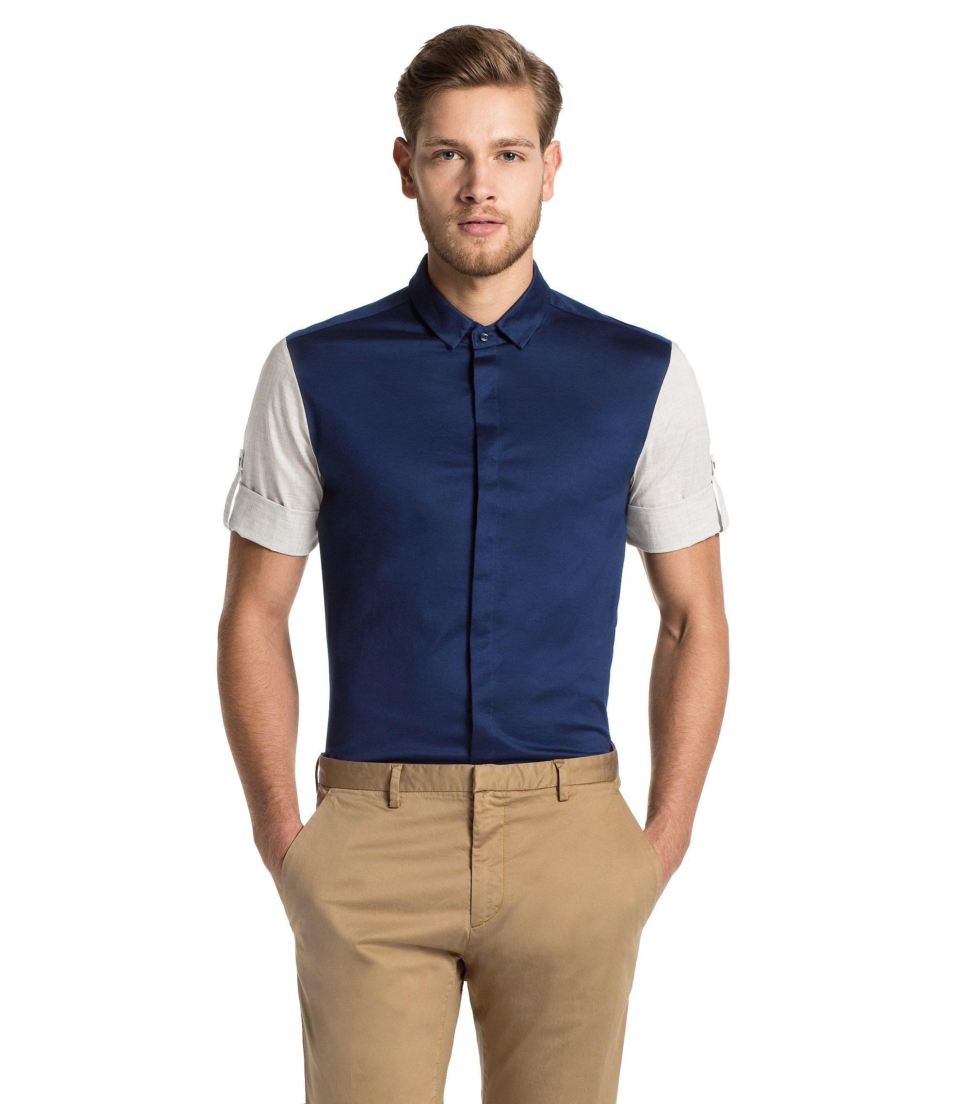 Regular fit short sleeve shirt 'Darroll', Dark Blue