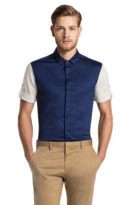 Regular fit overhemd met korte mouwen ´Darroll`, Donkerblauw