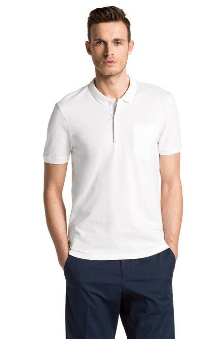 Regular fit piqué polo shirt 'Dathis', White