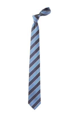 Krawatte ´Tie 7,5 cm` mit Blockstreifen, Hellblau