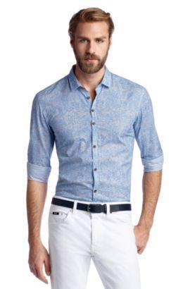 Vrijetijdsoverhemd 'Remunus' met kentkraag, Blauw