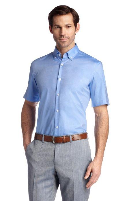 Regular fit business shirt 'Edke', Blue