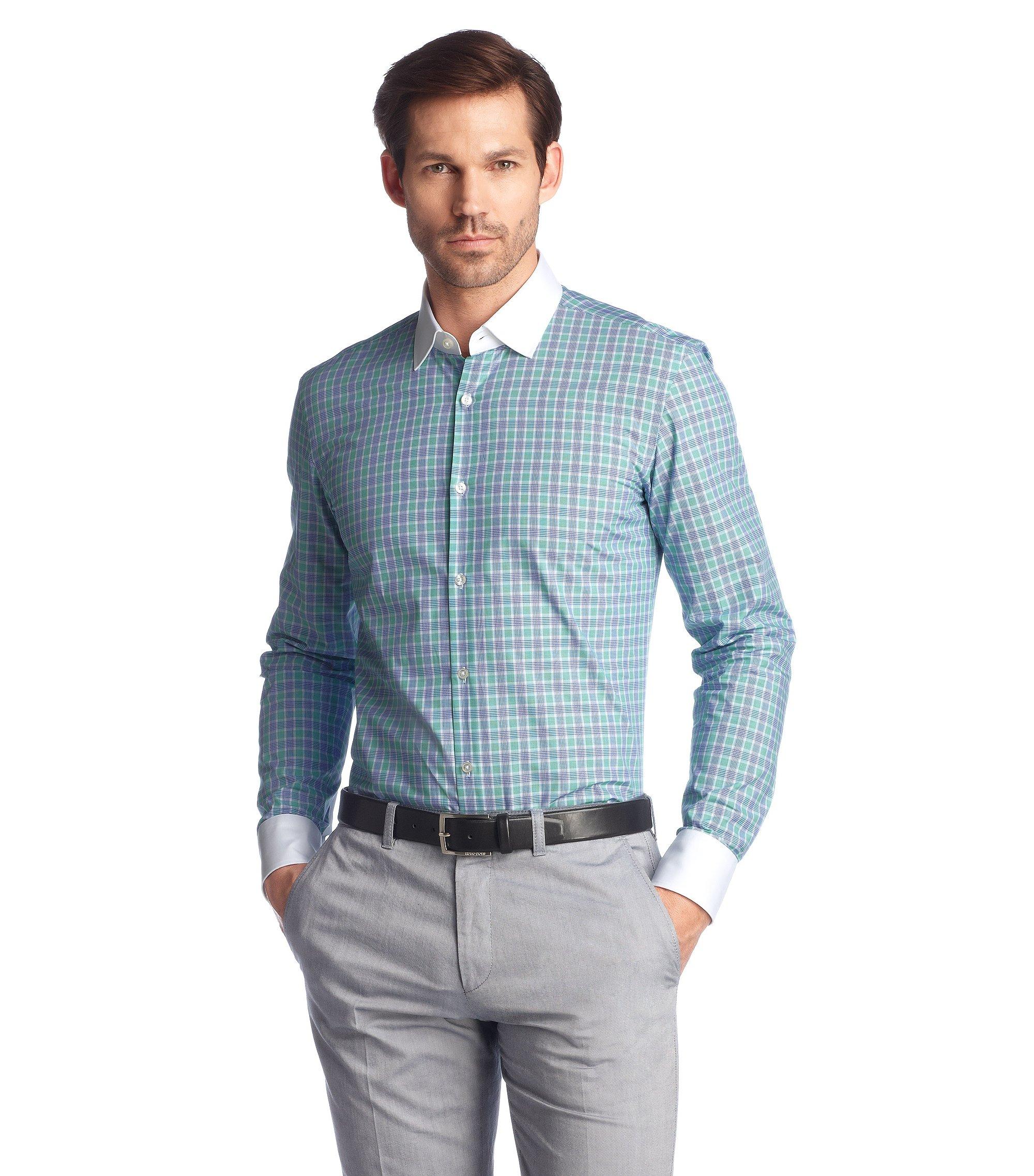 Business-Hemd ´Jonne` mit Winchester-Kragen, Hellgrün