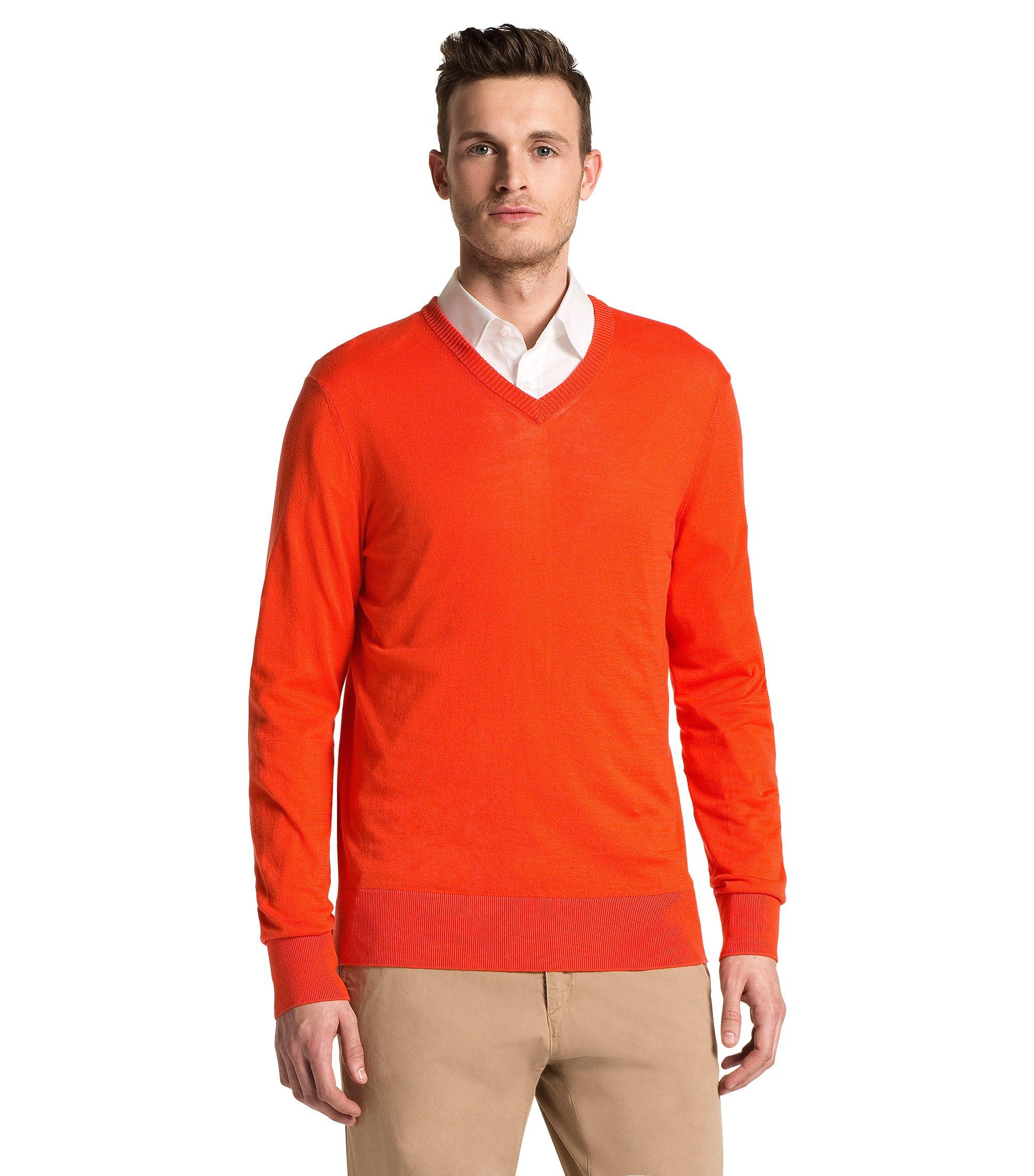 Pull-over en coton, Sacorco, Orange