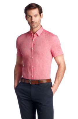 Business-Hemd ´Jats` aus Leinen, Rot