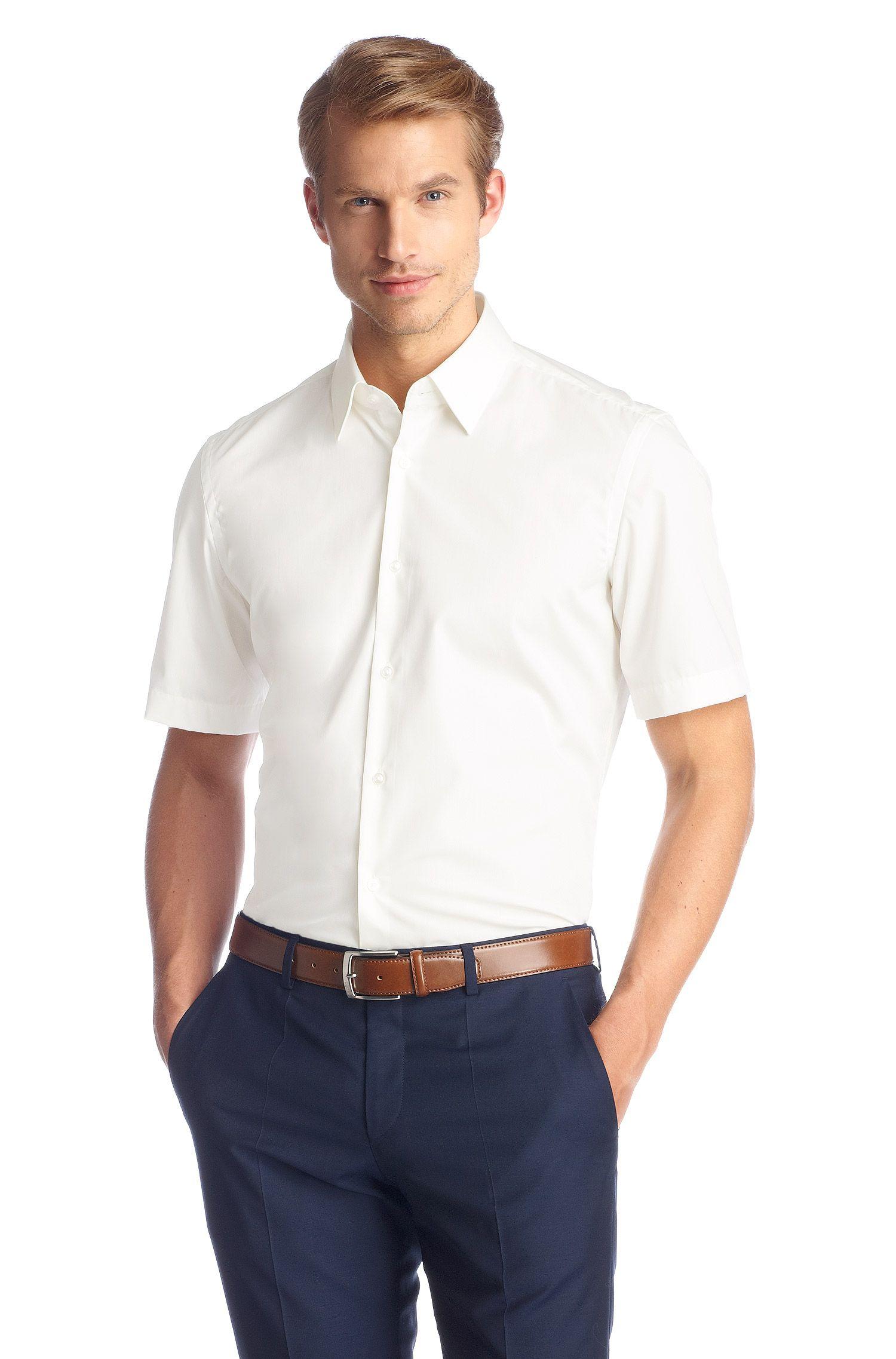 Regular fit overhemd met korte mouwen 'Cinzioi', gemakkelijk te strijken