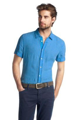 Slim-Fit Freizeit-Hemd ´Cliffi` mit Kentkragen, Hellblau