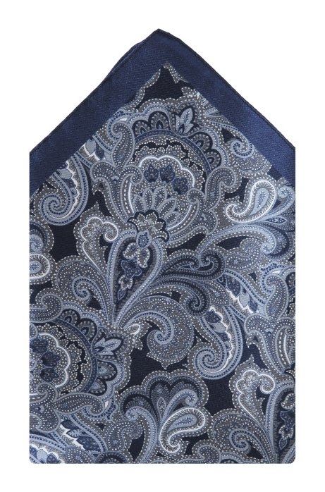 Silk pocket square 'Pocket Square 33x33', Black