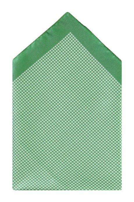 Silk pocket square 'Pocket Square 33x33', Light Green