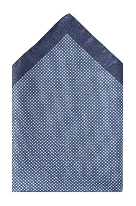 Silk pocket square 'Pocket Square 33x33', Dark Blue