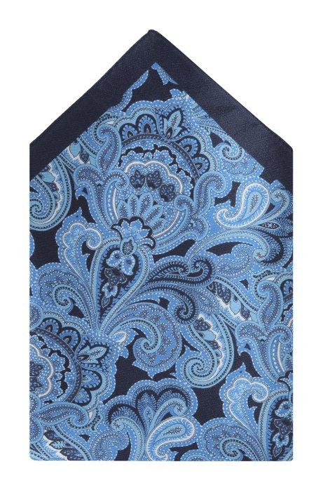Silk pocket square 'Pocket Square 33x33', Dark Blue