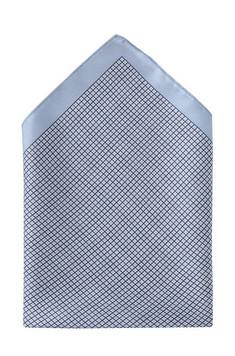 Silk pocket square 'Pocket Square 33x33', Open Blue