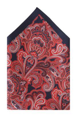 Pochette en soie, Pocket square 33x33, Rouge