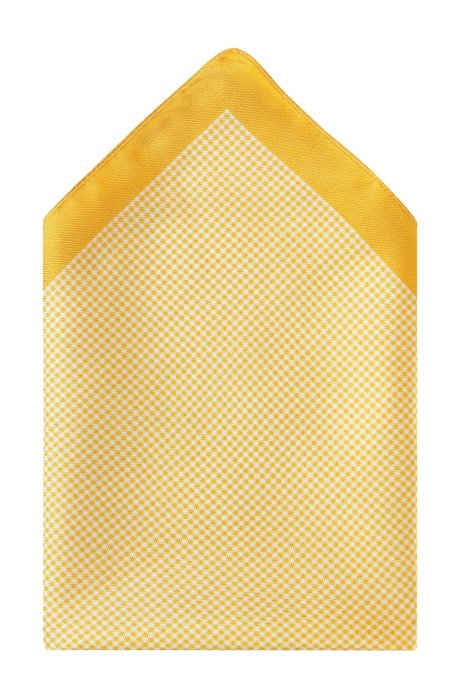 Silk pocket square 'Pocket Square 33x33', Yellow