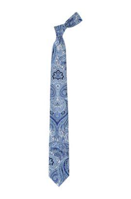 Krawatte ´Tie 7,5 cm` aus reiner Seide, Blau