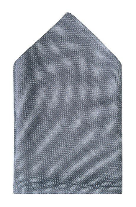 Silk pocket square 'Pocket Square 33x33', Grey