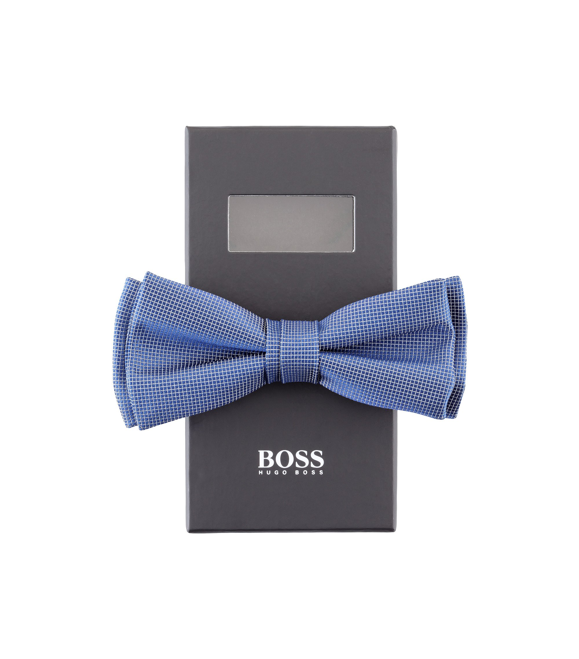 Fliege ´Bow tie fashion` aus hochwertiger Seide, Blau
