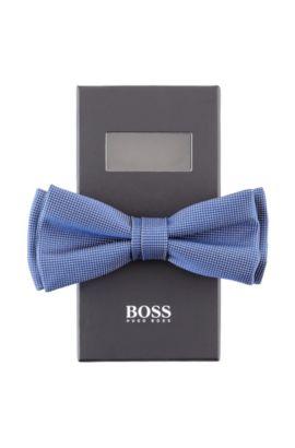 Nœud papillon soie supérieure, Bow tie fashion, Bleu