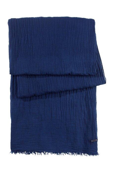 Pure cotton scarf 'Women-Z 418', Dark Blue