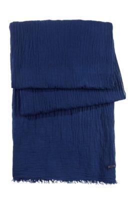 Schal ´Women-Z 418` aus reiner Baumwolle, Dunkelblau