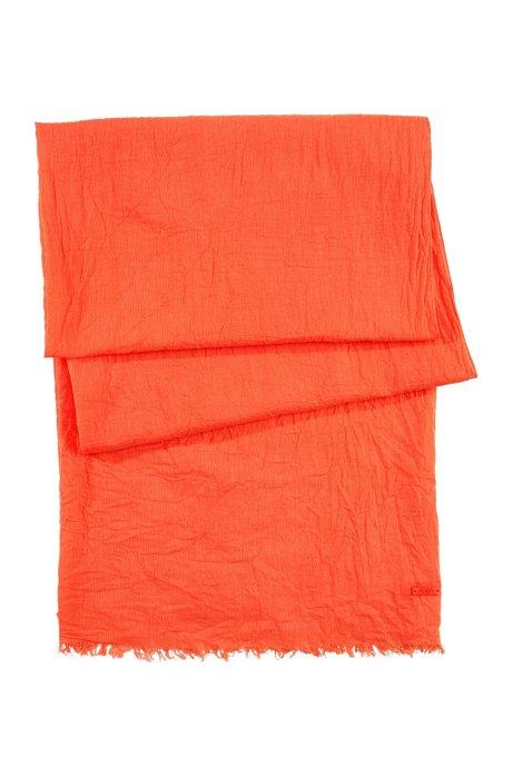Pure cotton scarf 'Women-Z 418', Orange