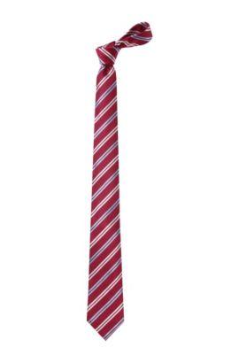 Cravate en soie, Tie 7,5 cm, Rouge