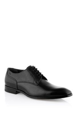 Chaussures à lacets en cuir de vachette, Romes, Noir