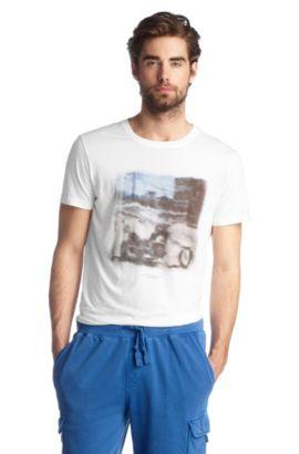 T-shirt à encolure ronde, Tribute2, Blanc