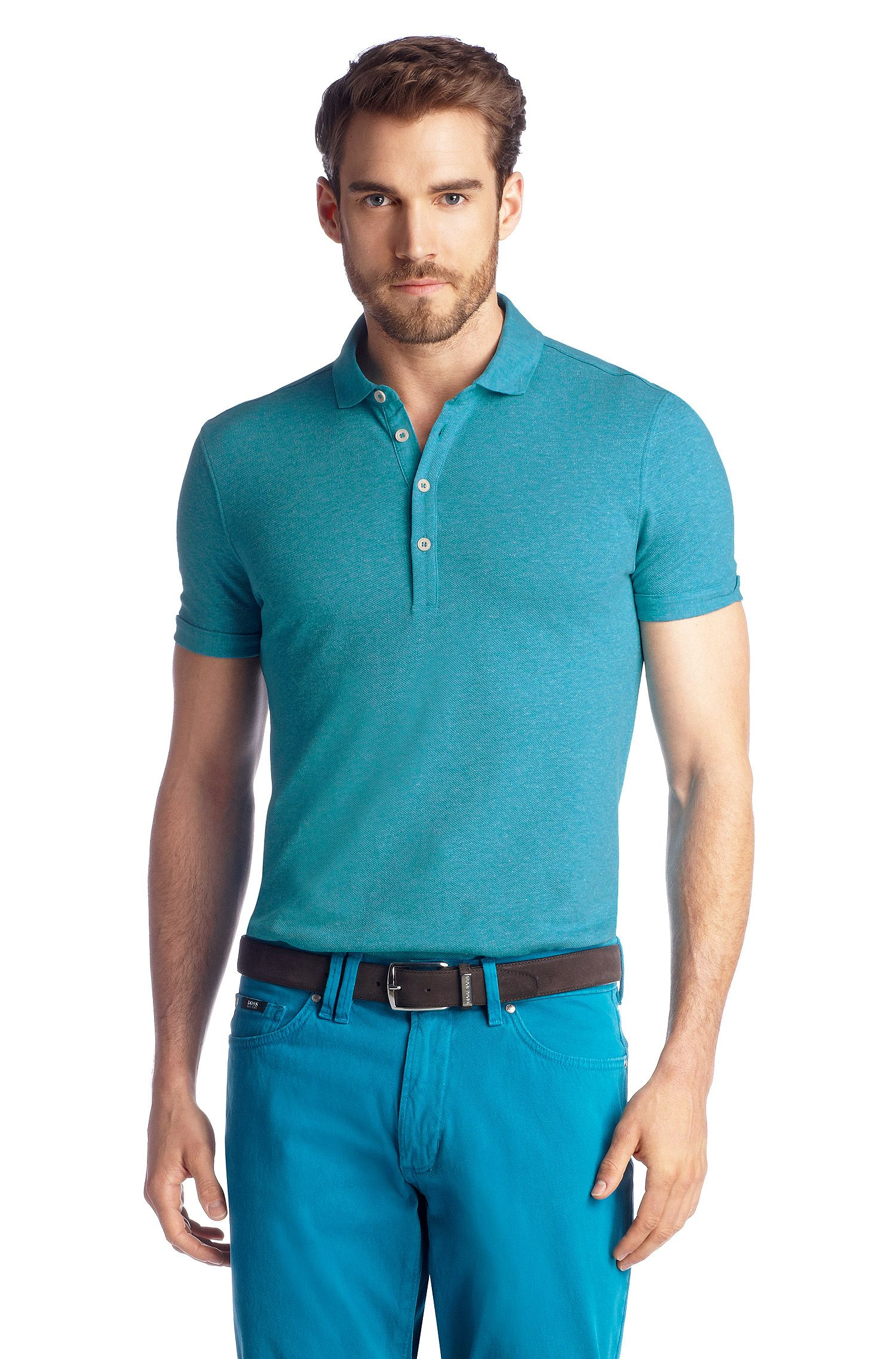 Polo Regular Fit en maille piquée, Bellano 10
