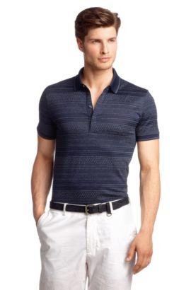 Polo en coton mélangé, Bugnara 22, Bleu vif