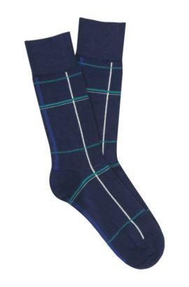 Socken ´RS Design` aus feiner Baumwolle, Dunkelblau