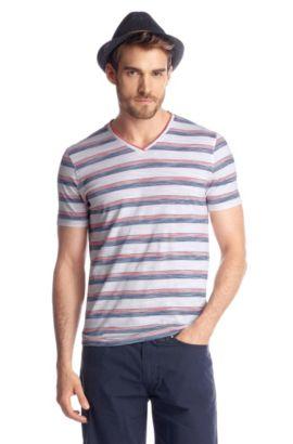 T-Shirt ´Eraldo 54` mit V-Ausschnitt, Dunkelorange