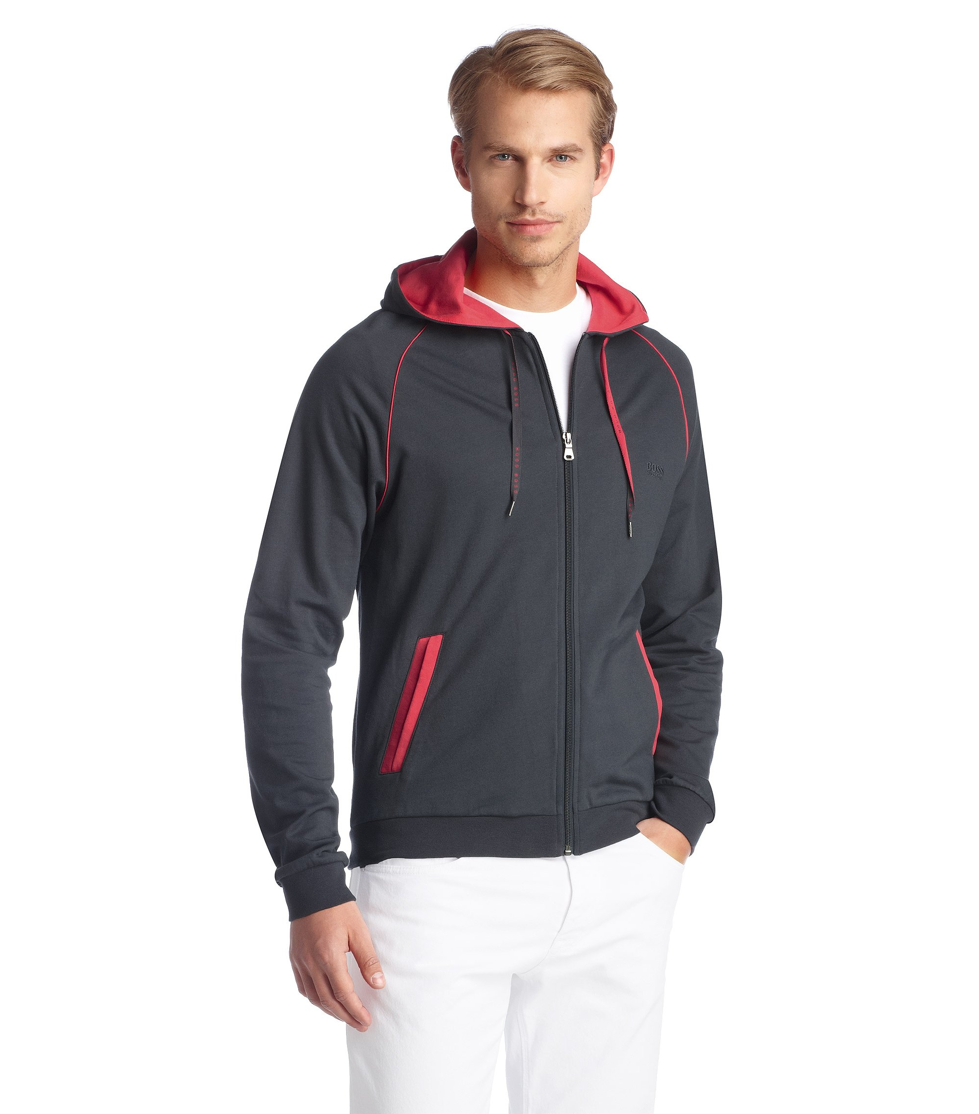 Veste molletonnée Regular Fit, Jacket Hooded BM, Anthracite