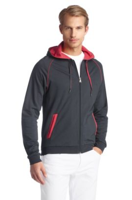 Regular-Fit Sweatshirt-Jacke ´Jacket Hooded BM`, Anthrazit