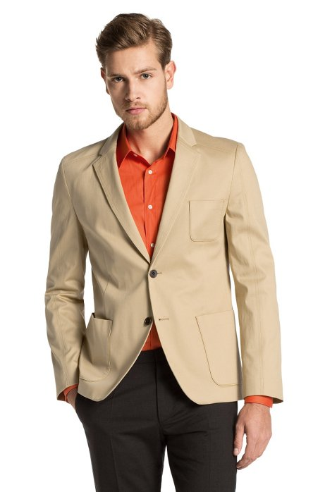 New fashion casual fit jacket from HUGO 'Antero', Beige