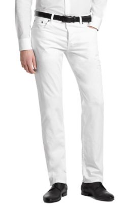 Jean Regular Fit, HUGO 677 / 8, Blanc