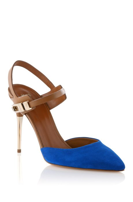 Mixed suede pump 'Chendra-S', Dark Blue