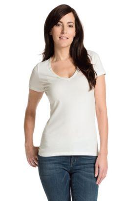T-Shirt ´Vienis` aus Baumwoll-Mix, Natur