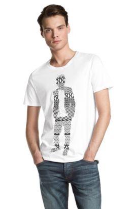 T-shirt à encolure ronde, Detno, Blanc