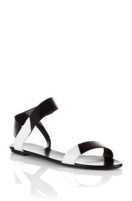 Sandale ´Liza` aus Kalbs- und Rindsleder, Schwarz