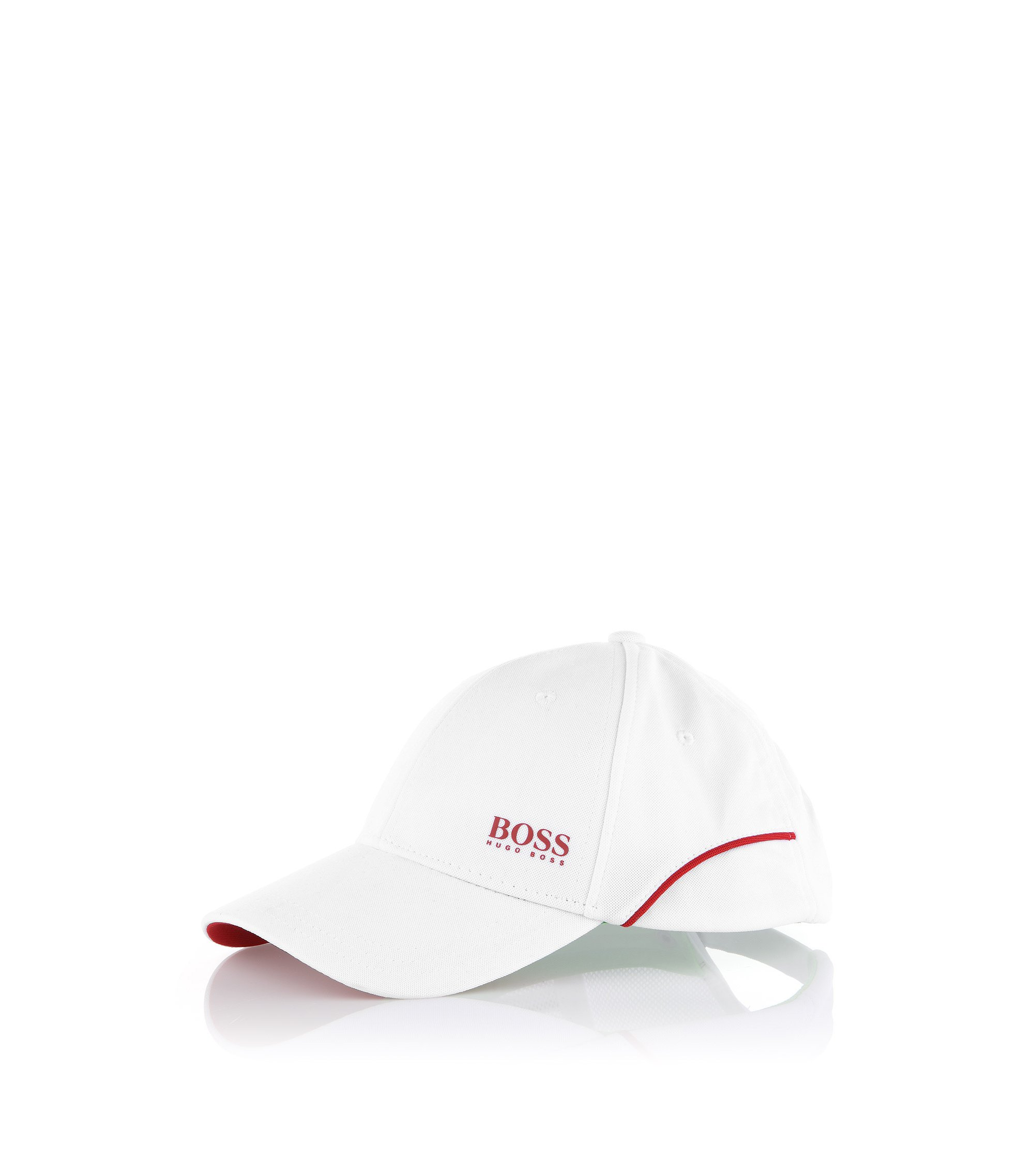 Cap ´Cesh 2` mit Zierpipings, Weiß