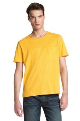 T-Shirt ´Delang` mit Rundhals-Ausschnitt, Gelb
