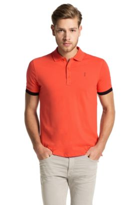 Regular-Fit Poloshirt aus Stretch-Baumwolle: 'Nono-C', Orange