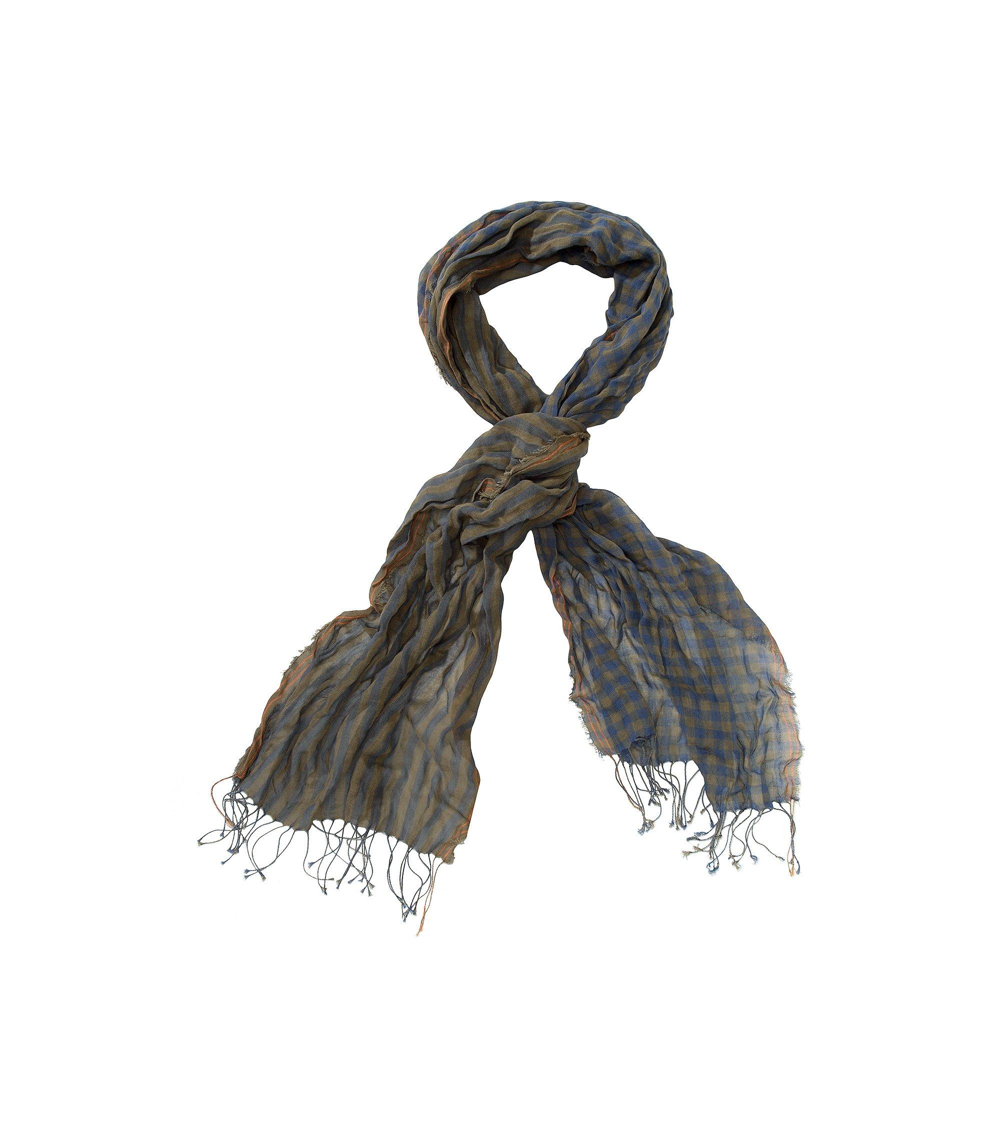Schal ´Nart` aus reiner Baumwolle, Dunkelgrün